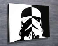 Stormtrooper black and white pop art http://www
