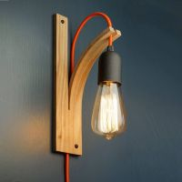 Wall Bracket Light | Ash, Grey and Wall plug