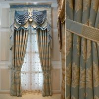 blue+white+gold+drapes | House Hotel curtains for living ...