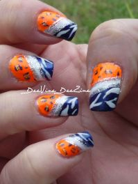 florida gators nailart, florida gators nails, florida