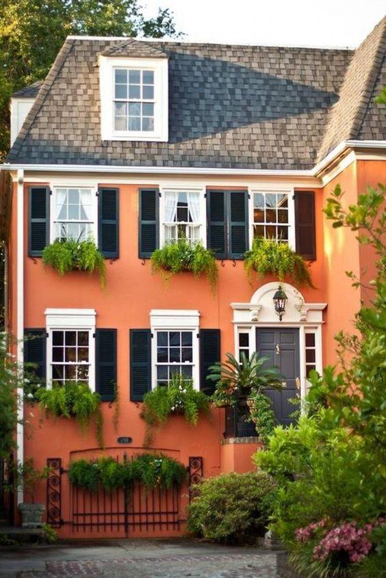 Orange Exterior House Paint Color Combinations House Painting