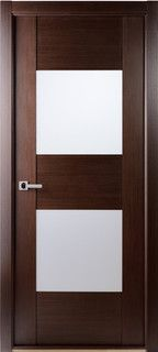 Contemporary African Wenge Interior Single Door With Frosted Glass Doors  Tampa Also Rh Pinterest