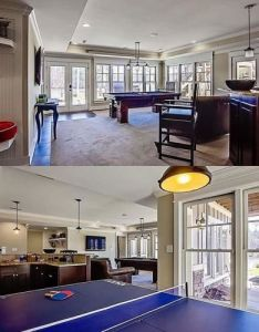 Great game room with bar in the finished lower level of architectural designs exclusive house plan also rh za pinterest