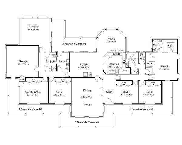 The Bourke Australian House Plans House Plans Pinterest