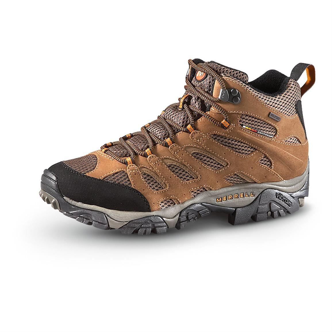 merrell mens waterproof moab mid hiking shoes