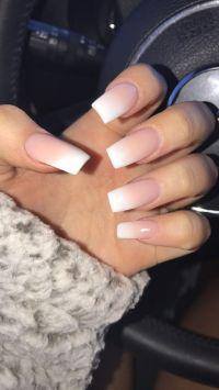 ombr acrylics ! #ombre #nails #acrylics https://noahxnw ...