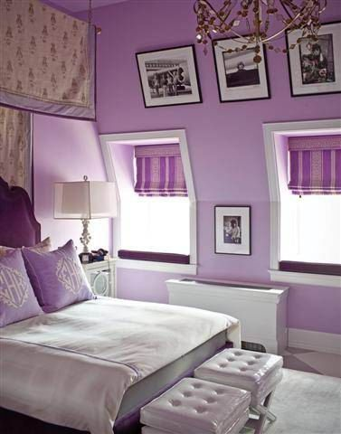 Lilac Walls Are So Pretty With Crisp White Trim Clean Lined Furniture And Tailored