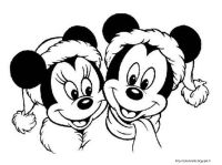 Topolino Minnie Natale | Disegni da colorare | Pinterest ...