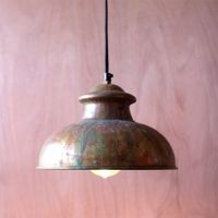 Antique Rustic One Light Dome Pendant VIII Kalalou Dome ...