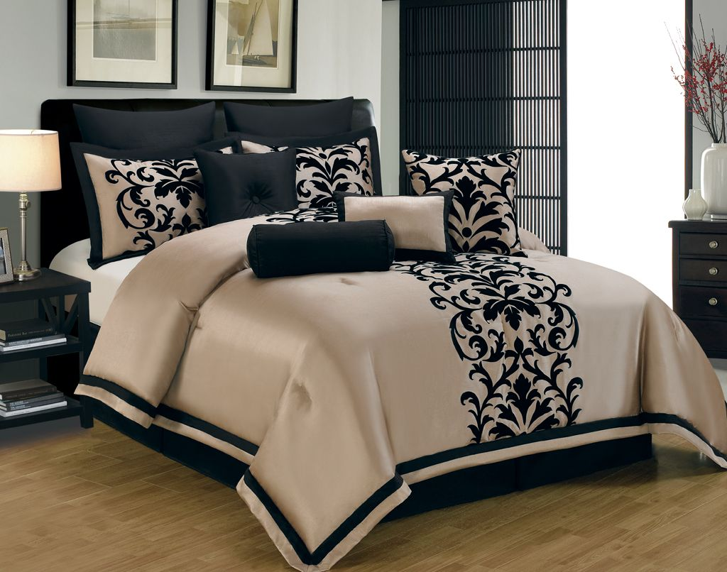 King Size Navy Blue And Gold Comforters