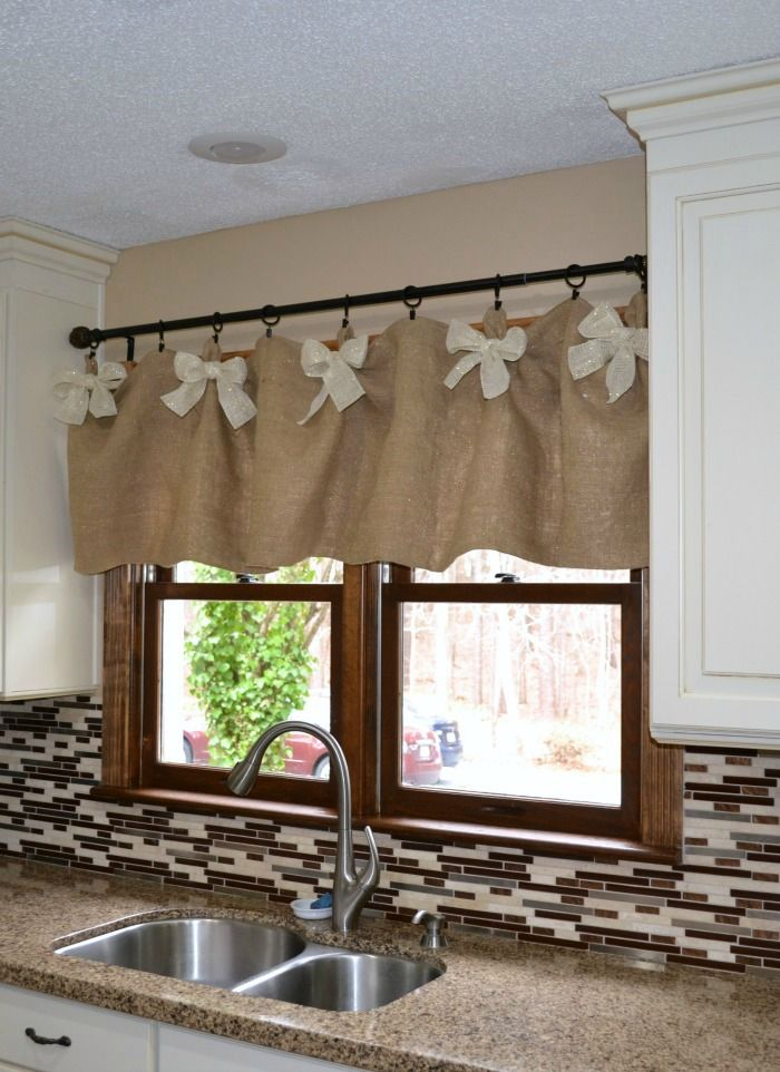 valances for kitchen windows cabinet replacement easy affordable diy window