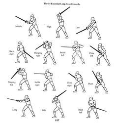 the 14 essential longsword guards. http://i1001