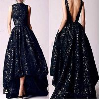 Aliexpress.com : Buy 2016 Arabic Hi Low Black Prom dresses ...