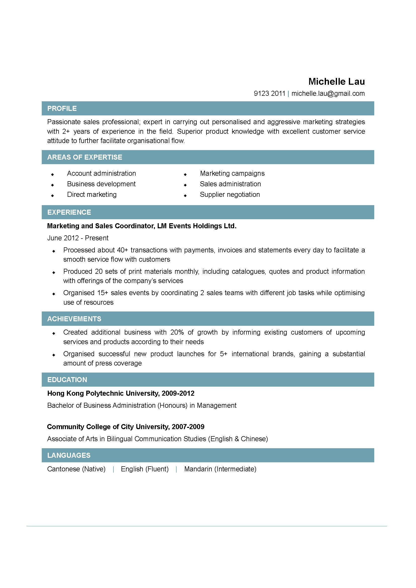 Sales And Marketing Coordinator Resume Sales Coordinator Resume Examples Http Jobresume