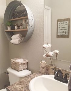 Adorable vintage farmhouse bathroom remodel ideas on  budget https homevialand cheap rustic decorcheap diy home also rh pinterest