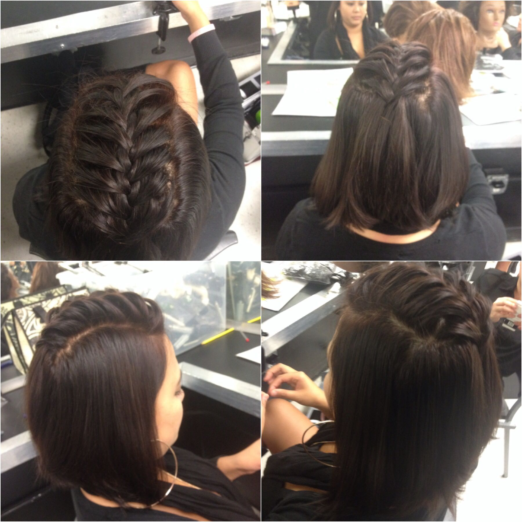 Very simple 5 minute hairstyle on a classmate Hair