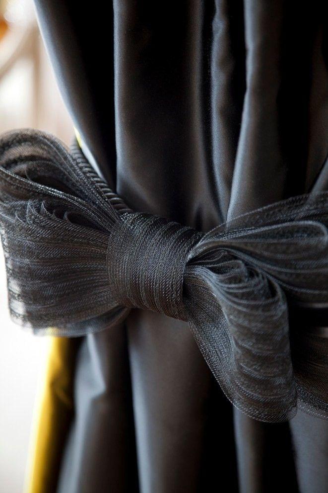 Bow Curtain Tie Back Dorm Decor Pinterest Door Handles Bow