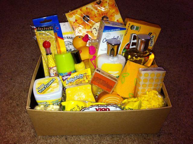 making a best friend birthday box