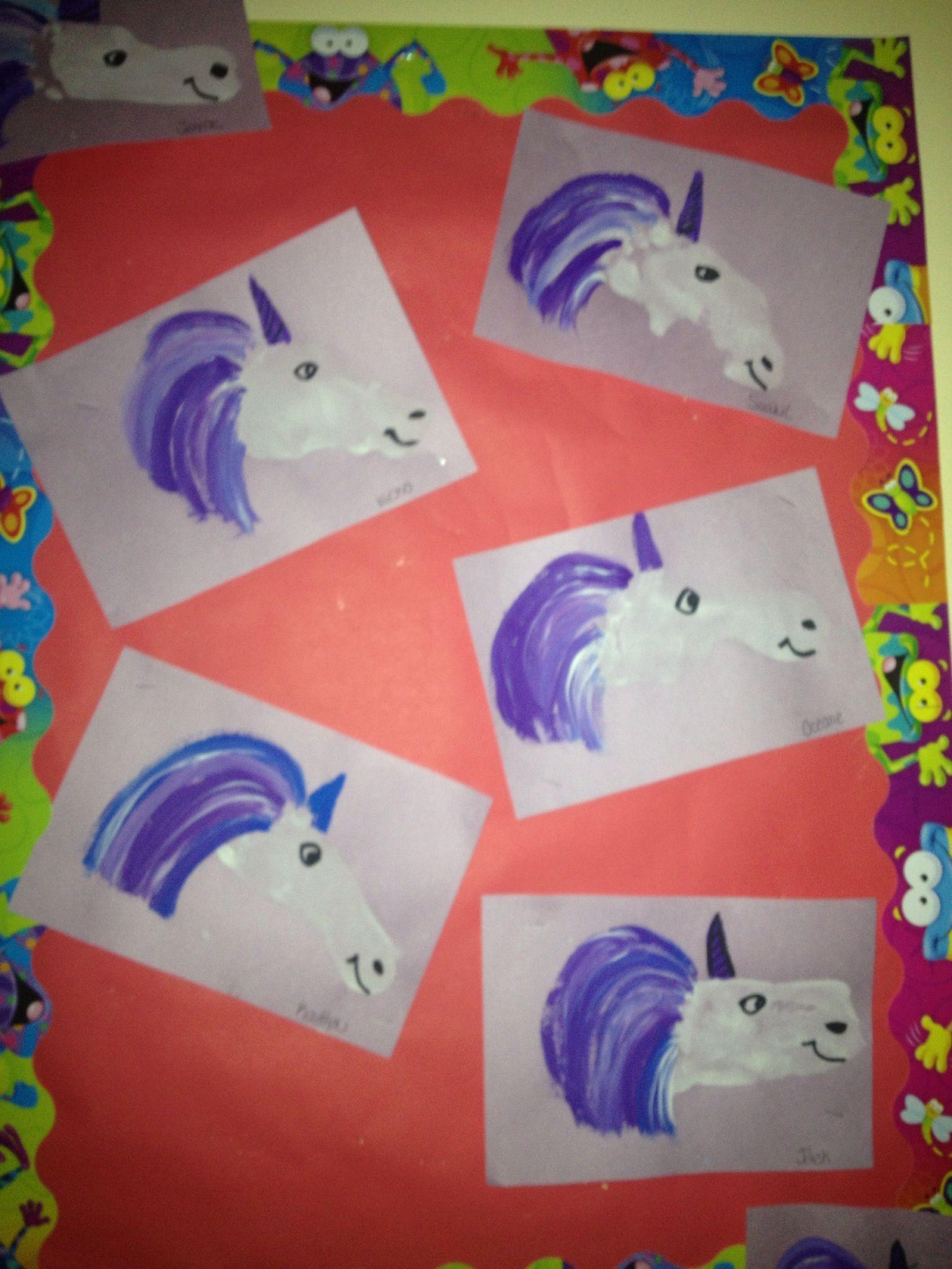Unicorn Craft Footprint Unicorns