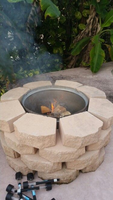 Fire pit with washing machine drum  Fire Pit from washing