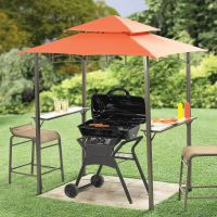 Perfect for the apartment/condo patio. Mini Grill-Zebo ...