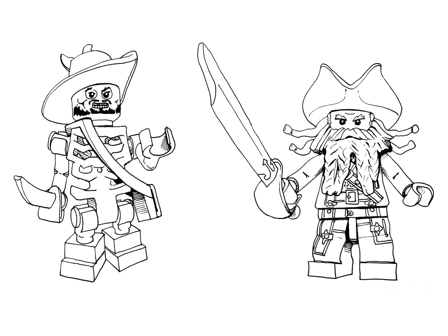 Lego Pirate Coloring Page