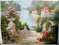 ocean and flowers paintings   oil paintings of flower ...