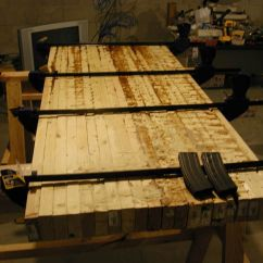 Commercial Kitchen Flooring Epoxy Tables Art Van Tabletop Base Made From 2x4s | Current Custom Butcher ...