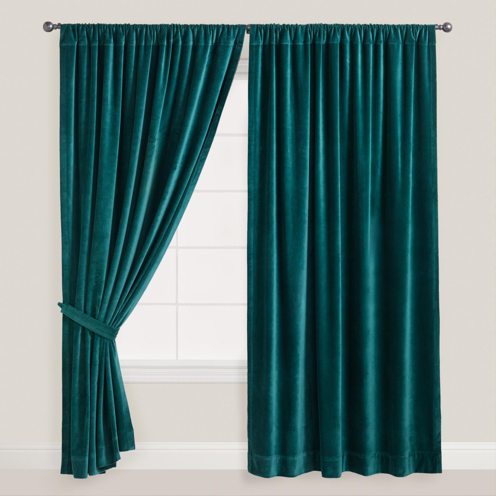 Mallard Velvet Curtain World Market Living Area Color Ideas