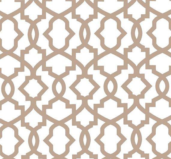 Modern Geometric Neutral Home Decor Fabric By The Yard Designer