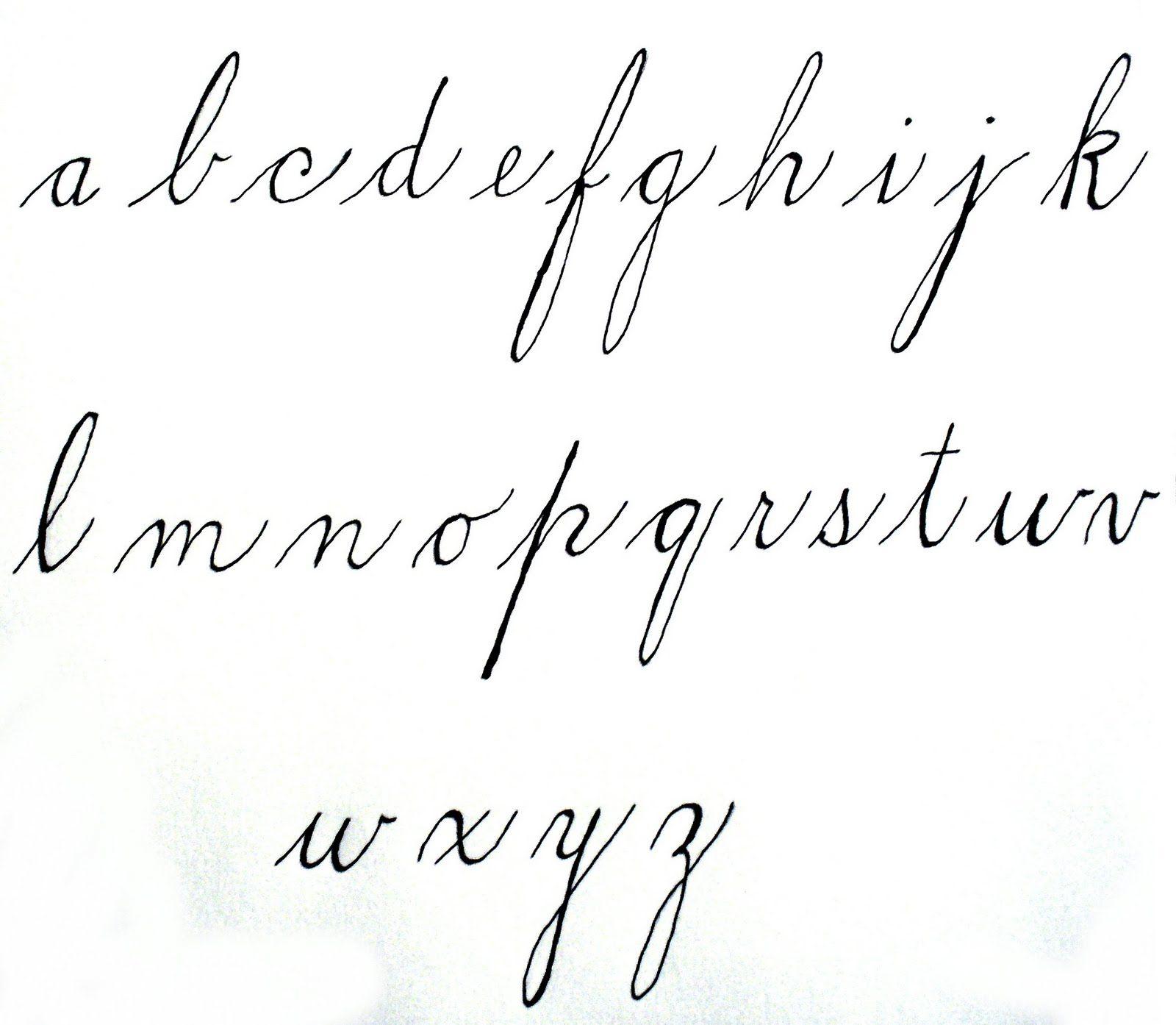 Penmanship In The S
