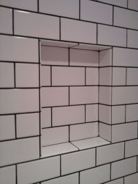 Subway Tile With Tobacco Brown Grout Old School ...