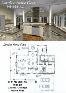 Midsize Country Cottage House Plan With Open Floor
