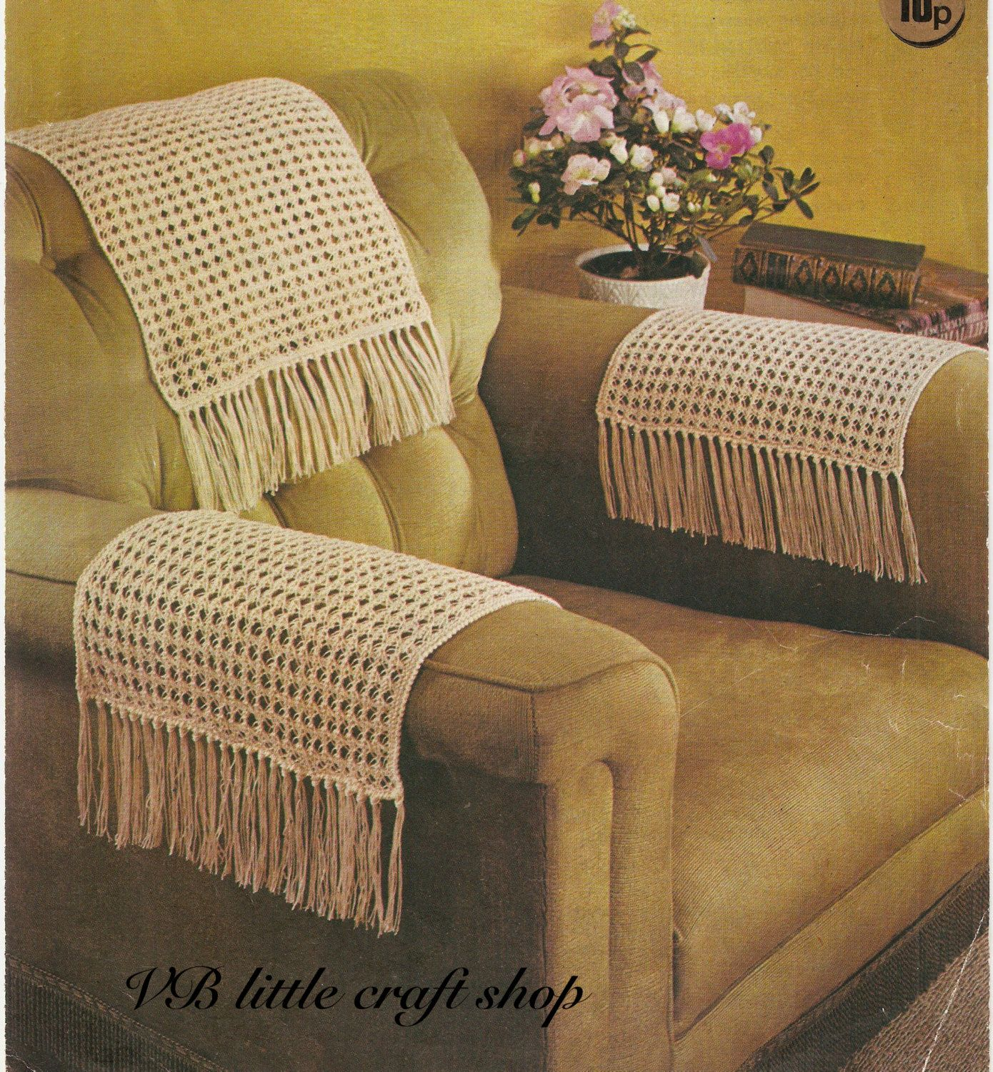 dorm chair covers etsy b cool folding quad chairback and arms knitting pattern instant