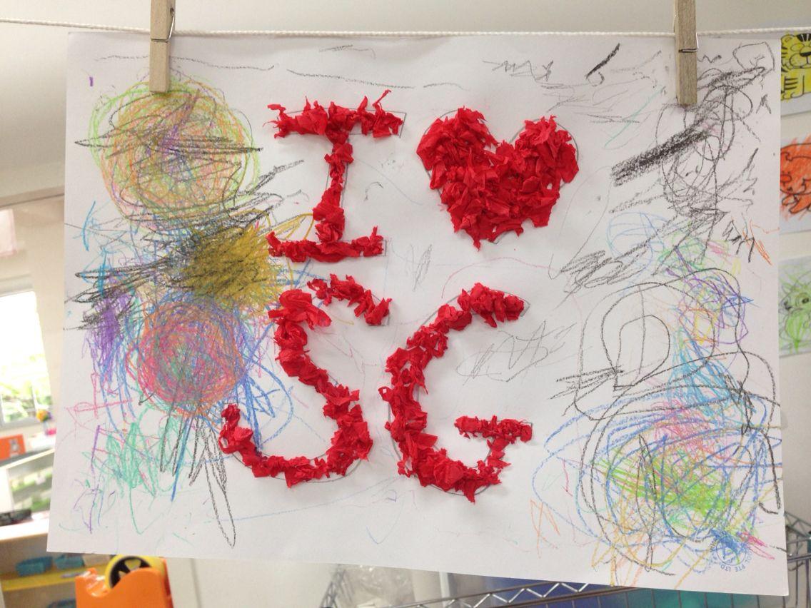 I Love Sg Craft Singapore National Day