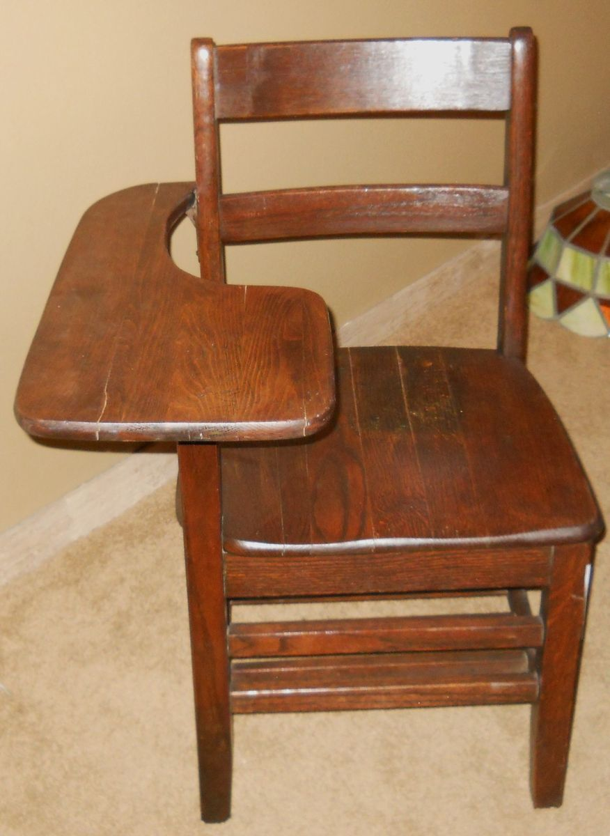 Very Nice Antique School Desk Chair from USAF Air Force
