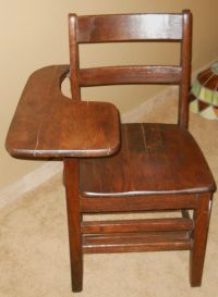 Very Nice Antique School Desk Chair from USAF Air Force ...