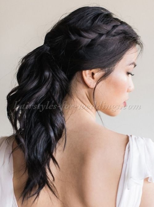 Ponytail Wedding Hairstyles Ponytail Wedding Hairstyle With