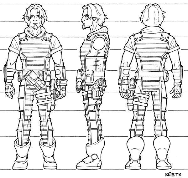 Turnaround Model Sheet. 360 layout sheet. Character Model