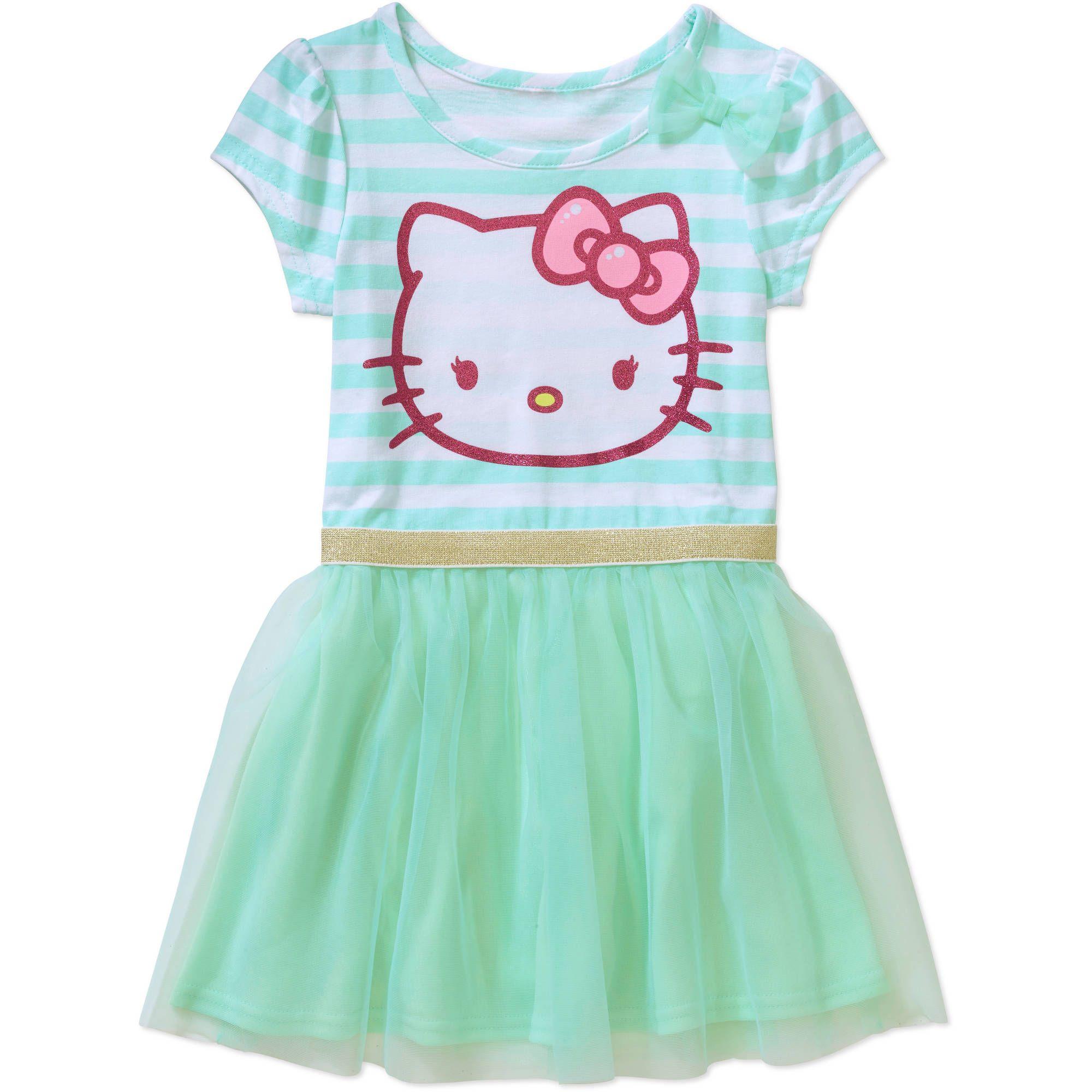 Hello Kitty Toddler Girl T Shirt Tutu Dress