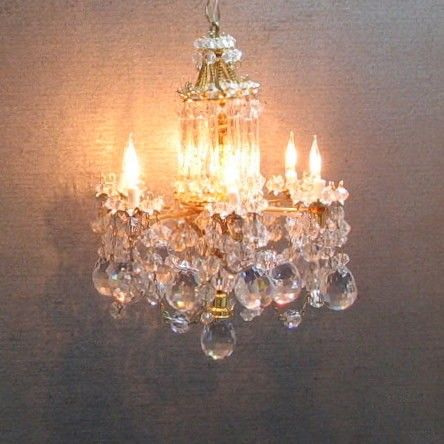 Doll House Miniatures Dollhouse Miniature Chandelier