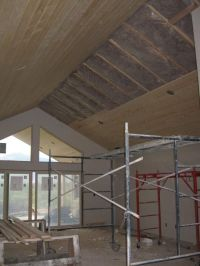 Knotty Pine tongue & groove ceiling continued from patio ...