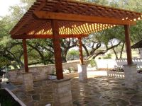 Western red cedar #pergola and sand stone #patio for ...