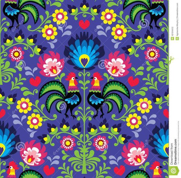 Polish Folk Art Flower Patterns
