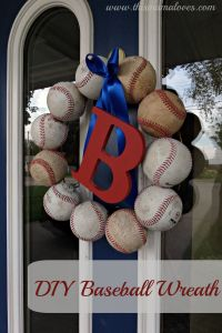 Baseball Decor - DIY Baseball Wreath screws thick copper ...