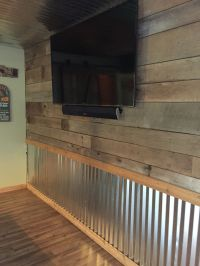 Barnwood and tin wall | The hooch | Pinterest | Tin walls ...