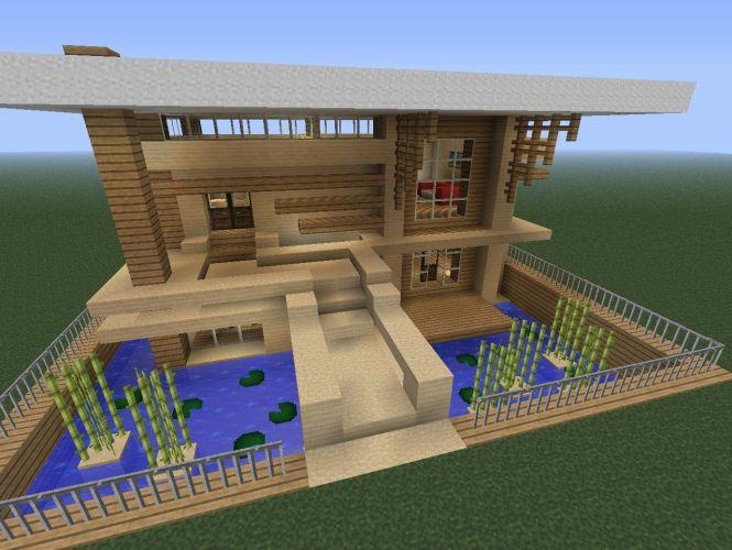 simple modern house minecraft