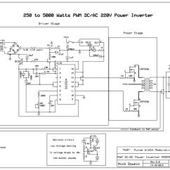 5000 Watt Amplifier Circuit Diagram Hopkins 7 Pin Trailer Wiring Build A 250 To Watts Pwm Dc Ac 220v Power Inverter