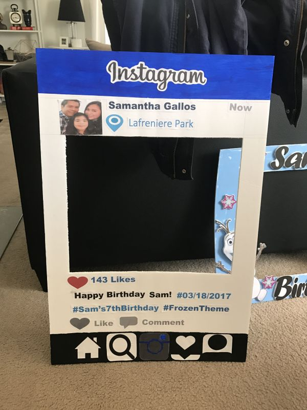 20 Instagram Birthday Photo Booth Frame Pictures And Ideas On
