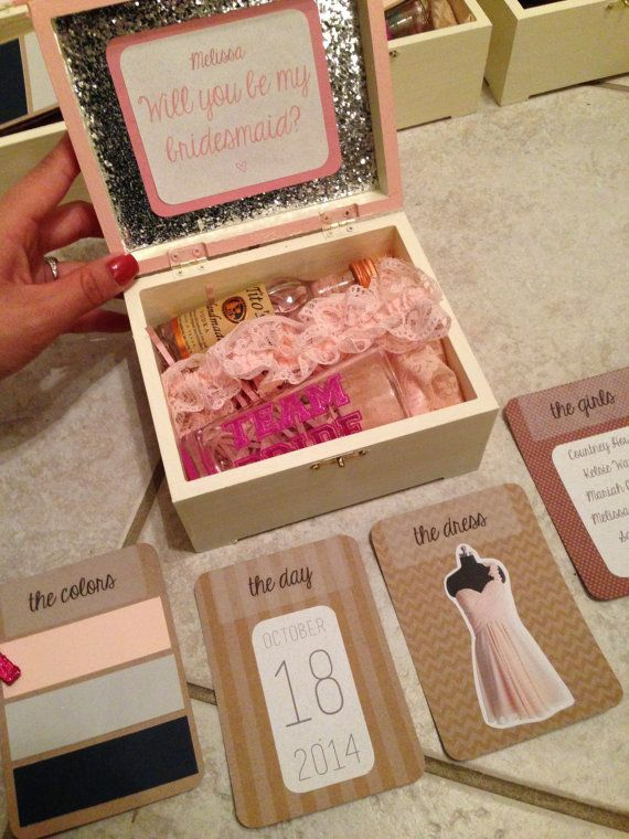 Sparkly Decorative Favor Box for Bridesmaid Maid of Honor